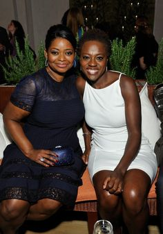 Octavia Spencer and Viola Davis at the Women in Film party! Click for more.