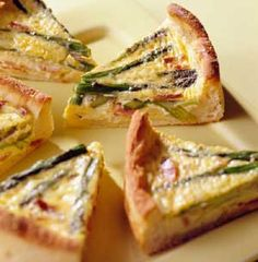 Spring Asparagus Quiche Asparagus, available year-round in many in grocery stores, is at its best during spring. When you find it fresh, and possibly locally grown, make the most of it in this main-dish quiche.