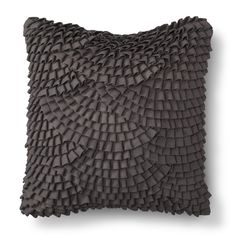 Threshold� Pleated Scallop Decorative Pillow - Grey $24.99