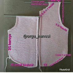 Pink Vest For Babies - Best Knitting Baby Knitting Patterns, Crochet Beanie Pattern, Crochet Poncho, Knitting For Kids, Knitting Designs, Knitting Stitches, Baby Patterns, Crochet Baby, Hand Knitting