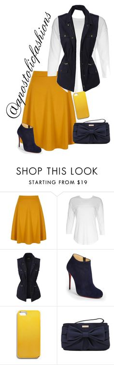 """Apostolic Fashions #1431"" by apostolicfashions on Polyvore featuring Yumi, NSF, LE3NO, Christian Louboutin, Madewell, Kate Spade, modestlykay and modestlywhit"
