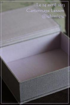 Cartonnage Lesson完成作品【その1】の画像:ichimière手づくりの時間