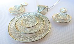 Filigree Jewelry, Silver Filigree, Hoop Earrings, Collection, Earrings