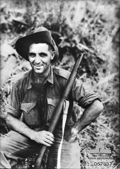 """Thomas Currie """"Diver"""" Derrick, VC,DCM 20 March 1914 – 24 May 1945 was an Australian recipient of the Victoria Cross. In November 1943 during WWll Derrick was awarded the Victoria Cross for his assault on a heavily defended Japanese position at Sattelberg,New Guinea.During the engagement, he scaled a cliff face while under heavy fire and silenced seven machine gun posts, before leading his platoon in a charge that destroyed a further three."""