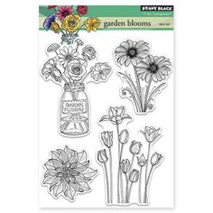 Penny Black - garden blooms