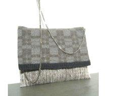 Tracolla  borsetta tessuto  lana alpaca  maglia lana di BAGSaraGui