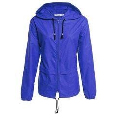Meaneor Thin Trench Coat For Women Windbreaker Hooded Autumn Winter Lightweight Waterproof #RaincoatsForWomenTrench