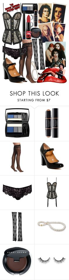 """RHPS - An Exercise in Science"" by less-sane-than-luna ❤ liked on Polyvore featuring Lancôme, Christian Dior, Paul Frank, Cosabella, Report, Boohoo, Agent Provocateur, Gucci and Bobbi Brown Cosmetics"