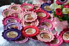 Marturii Botez...Cadou pt. invitati... Christening, Frame, Desserts, Handmade, Food, Decor, Amigurumi, Thanks, Picture Frame