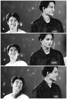 "Kaisoo ❤ Kyungsoo face is all like ""aint my boy handsome, he makes me feel special, hes all mine"" xD ♥️"