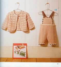 Peach color baby collection with diagrams