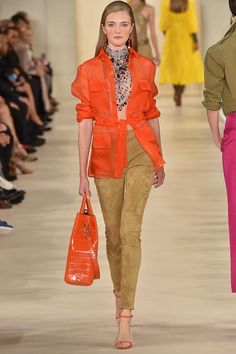 Just some casual orange from Ralph Lauren's SS15 RTW Collection