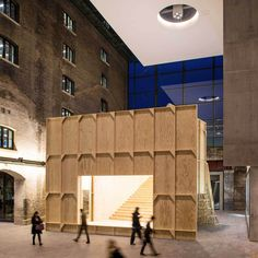 Black Maria Temporary Performance Pavilion by GRUPPE.