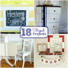 Great Ideas -- 18 Summertime STRIPE ideas! -- Tatertots and Jello #DIY #SummerIdeas