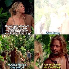 """This Place Is Death"" – The group is suffering through multiple time jumps, and the headache pain increases with each event. Soon after they arrive at The Orchid, it vanishes in a 'bloop', but they then see the well that Charlotte had told them about. Series Movies, Tv Series, Lost Tv Show, Elizabeth Mitchell, Josh Holloway, Lost Quotes, Wizards Of Waverly Place, Living Together, Night At The Museum"