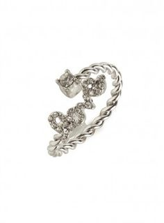 our new adjustable silver wrapped love ring!