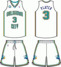 NO Oklahoma City Hornets Alternate Uniform 2006-2007 Sports Uniforms f2c5c7e32