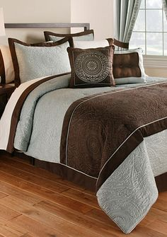 Elegant Luxurious Blue And Brown Bedding Looks Like A Luxury Hotel Blue And Brown Comforter