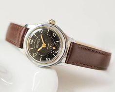 Women's wristwatch Vostok East black wristwatch retro