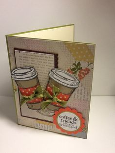 I used Stampin Up Perfect Blend stamp set.