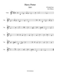 "Here you have the score and the notes of ""Harry Potter"" for violin or any . Clarinet Sheet Music, Cello Music, Piano Sheet Music, Saxophone, Violin Lessons, Music Lessons, Musical Harry Potter, Violin Songs, Song Notes"
