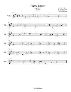 """La Partitura y Notas de """"Harry Potter"""" para Violín"""