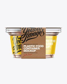 200g Plastic Cup in Kraft Wrap W/ Almonds Mockup. Front View (Preview)