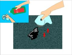 Getting Printer Ink out of Carpet with rubbing alcohol. Just did this, totally works!