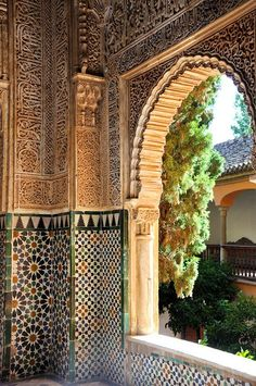 The Alhambra Palace in Granada - Andalusia, Spain Islamic Architecture, Amazing Architecture, Art And Architecture, Architecture Details, Alhambra Spain, Andalusia Spain, Islamic World, Islamic Art, Spain And Portugal