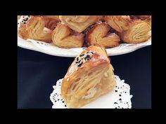 El Yapımı Sodalı Muhteşem Bir Milföy Börek Tarifi 👉🏻bera tatlıdünyası - YouTube Turkish Recipes, Iftar, Apple Pie, Food Art, Garlic, Bakery, Cooking Recipes, Bread, Vegetables