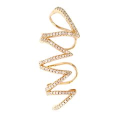 Gold and Diamond Cage Ear Topper - The EarStylist by Jo Nayor - 1