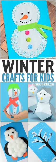 Need some winter crafts to fill the cold Christmas break? Check out this fun list! #craftsforkidstomake