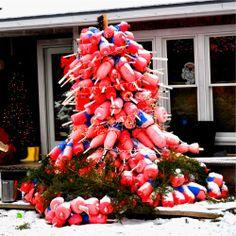 Buoy Christmas tree in Maine.