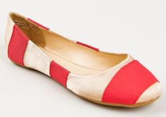 Bamboo Crush-86 Chic Cute Slip On Striped Colorblock Ballet Flat $23.00 ~ The Stilush Team