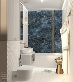 Elegancka łazienka z nutą glamour   Pracownia Projektowa Kinga Zdżalik - ArchiUp.com - Biblioteka 3D Cad 2d, Washroom, Bathroom Interior Design, My Room, Modern Furniture, Toilet, Bedroom Decor, House Design, Bathroom Ideas