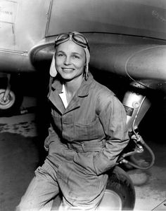 Getty Gillies was the first pilot to qualify for the Women's Auxilary Ferrying Squadron. In early March 1943 Gillies became the first woman to fly the Republic P-47 Thunderbolt when she was checked out on the aircraft at Wilmington, Delaware. Since the P-47 was a single seat aircraft, her first flight was also her first solo flight.