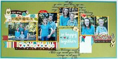 We Are Family 2 Page Layout featuring We Are Family Line from Simple Stories #scrapbooking #pagelayouts  #simplestories