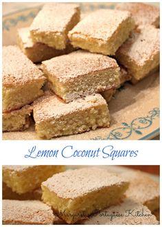 Margaret's Portuguese Kitchen : Lemon Coconut Squares
