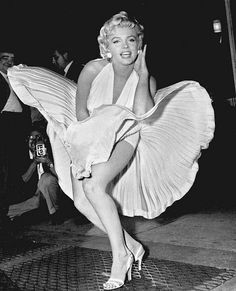 Marilyn Monroe and her most famous moment, in her white dress in the 1955 film The Seven Year Itch.