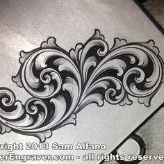 【 Sam Alfano 】 - @master_engraver Instagram profile | Iconosquare New Tattoos, Tribal Tattoos, Baroque Frame, Arabesque, Filigree Tattoo, Leather Tooling Patterns, Scroll Pattern, Metal Engraving, Carving Designs