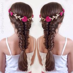 """""""Faux TopsyTail Braid Beautiful Flower Crown that we won on @hairbyrotem contest """" Photo taken by @mimiamassari on Instagram, pinned via the InstaPin iOS App! http://www.instapinapp.com (08/20/2015)"""