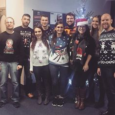 Christmas Jumper Day at the Fresh Relevance office today! Lots of fun had and money raised for a great cause 🎅🏻🎄#marketing #officefun #digitalmarketing #christmasjumperday2016 #savethechildren #groupphoto #companyculture