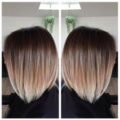 We often see ombre on girls with long, beachy waves, but this style proves that the look is just as eye-catching in an angular chop. This sleek bob was given an expert balayage treatment, fading from chestnut to platinum in the most natural way possible. Image: @maidenstkilda