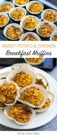 Sweet Potato & Chicken Breakfast Muffins (AIP, Whole30, Paleo, Nut-Free)