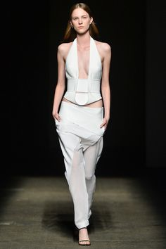 Dion Lee Spring 2014 - I'm obsessed with these trousers.