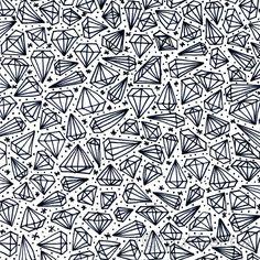 Black and White Diamonds handmade pattern design. ©ankepanke http://iheartpatterns.nl