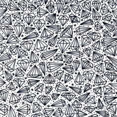 Black and White Diamonds handmade pattern design. ©ankepanke http://iheartpatterns.nl