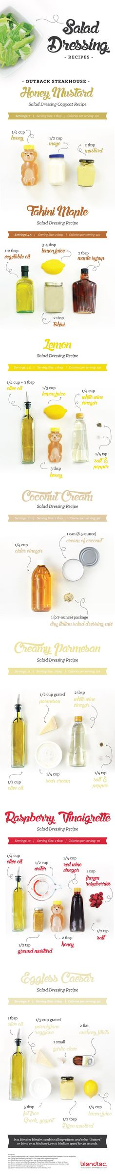 DIY salad dressing recipes. The Outback Steakhouse recipe is incredible!