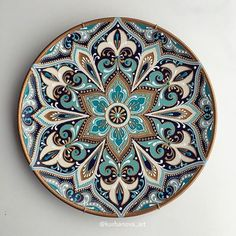 Handmade with l❤️VE ( Mandala Design, Mandala Art, Mandala Painting, Dot Art Painting, Pottery Painting, Ceramic Painting, Islamic Motifs, Islamic Art, Painted Ceramic Plates