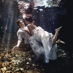 Yvette and Dennis surprise the guests at their wedding by doing an underwater Mayan Trash the Dress session before their wedding in Vancouver Underwater Photoshoot, Underwater Wedding, Underwater Photography, Bridal Boudoir Photography, Couple Photography Poses, Friend Photography, Maternity Photography, Water Engagement Photos, Kiss And Romance